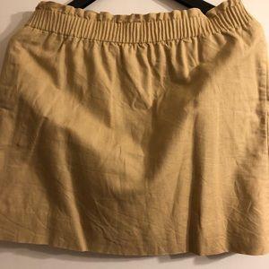 NWOT J.Crew Tan Wool-blend Sidewalk Skirt, Size 14